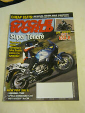 December 2010 Cycle World Magazine, Super Tenere  FN  (BD-4)
