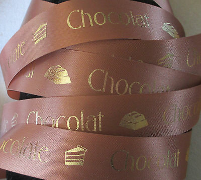 Milk Chocolate Gift Ribbon for Homemade Chocolates/Cake decorating 24mm width