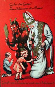 KRAMPUS *2X3 FRIDGE MAGNET* HORNED ANTHROPOMORPHIC FIGURE GERMAN CHRISTMAS BAD