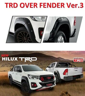 Revo Style 5 for 2016-2018 Toyota Hilux Matte Black Fender Flares