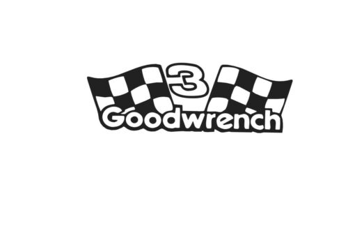 #3 GOODWRENCH 5 X 7 VINYL CAR TRUCK WINDOW DECAL WHITE STICKERS