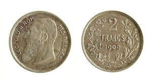 S1164_30) Belgio 2 Franchi Argento 1909 Des Belges