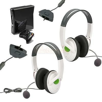 2X Live Game Headset Headphone with Microphone for XBOX 360 Wireless Controller