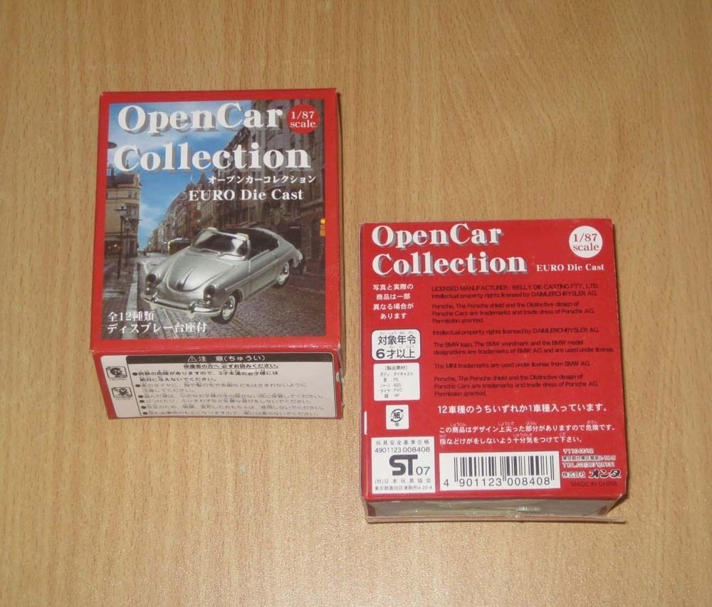 Welly 1 1 1 87 Sacle Open Car Collection Euro Die Cast Full Set of 12pcs 2007 2dace7