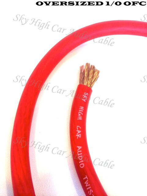 20 ft 1//0 Gauge Oversized AWG ORANGE Power Ground Wire Sky High Car Audio Cable