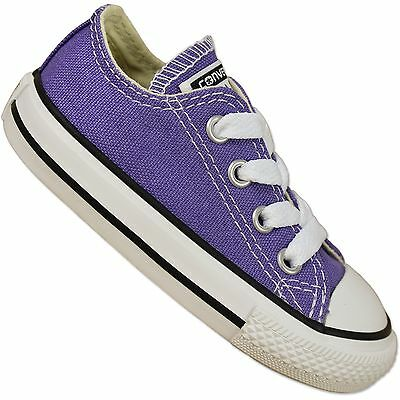 Converse Baby all Star Chuck Taylor Shoes Hollyhock Purple Children's Sneakers | eBay