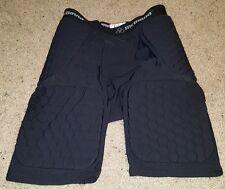 McDavid 5-Pad Hexpad Football Girdle Hardshell Thigh Guards Black Medium