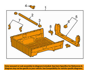 s l300 toyota oem 16 18 tacoma pick up box bed inner box assembly