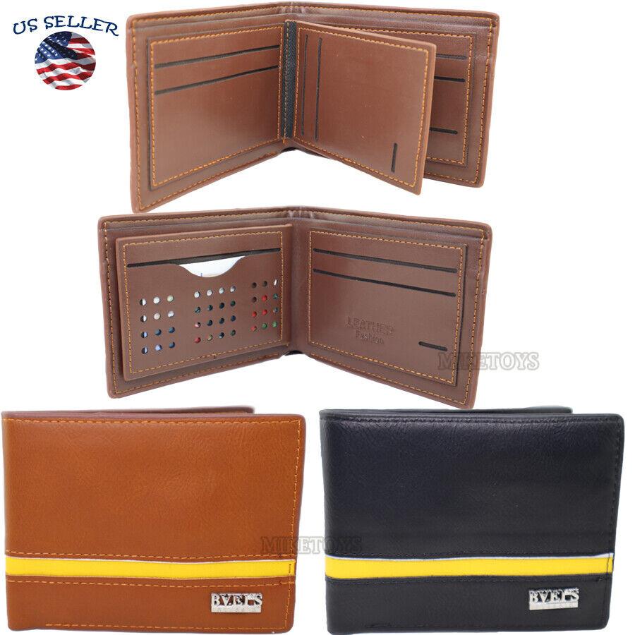 Men's Wallet Bifold ID Card Holder Short Purse Handbag Slim Clutch (5)