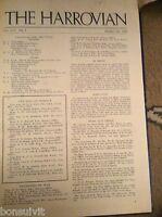L1-5 original harrow school magazine the harrovian 1950 june 7th
