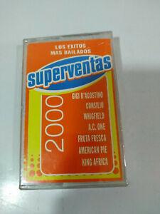 Superventas-2000-los-exitos-mas-bailados-techno-Cinta-Cassette-Nueva