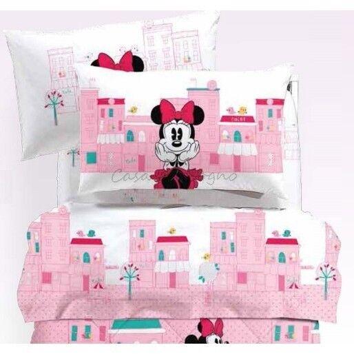 Completo letto lenzuola singolo 1 piazza Caleffi Minnie Minnie Minnie mod. City  6df949