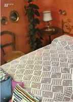 Vintage Crochet Pattern: Diamond Bedspread in Filet Crochet