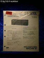 Sony Service Manual CFS 1030L Cassette Corder (#0358)