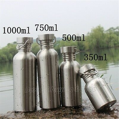 1x Stainless Steel Water Bottle Travel Outdoor Yoga Camping Hiking Cycling