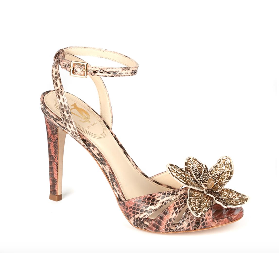 Vince Camuto Signature Bettie Pelle Heels Multi Color Donna Sz 9.5 M 4858