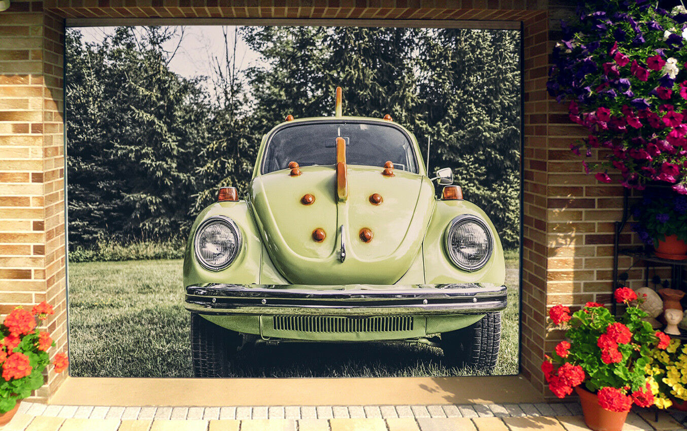 3D Cute Car 532  Garage Door Murals Wall Print Decal Wall AJ WALLPAPER AU Lemon