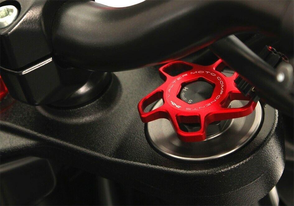 Monland Motorrad Aluminium 17Mm Universal CNC Vorder Rad Gabel Vorspann Einsteller Gold f/ür Ducati