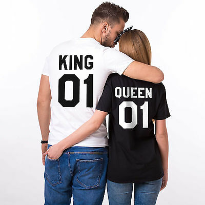 6debebfac King and Queen Matching Shirts Couple Outfits Tops Family T-Shirts His and  Hers