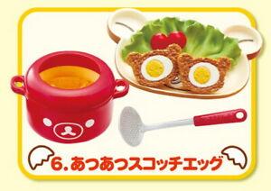 Rement Re-Ment Miniature San-X Rilakkuma Tamago Kitchen Breakfast with egg No.8