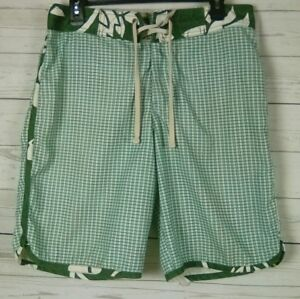 6be02059e59 OLD NAVY Mens Bathing Swim Trunks Board Shorts Multi-Color Plaid Sz ...
