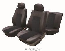 Sitzbezug Sitzbezüge Schonbezüge für Renault Citroen Peugeot Schwarz Komplettset