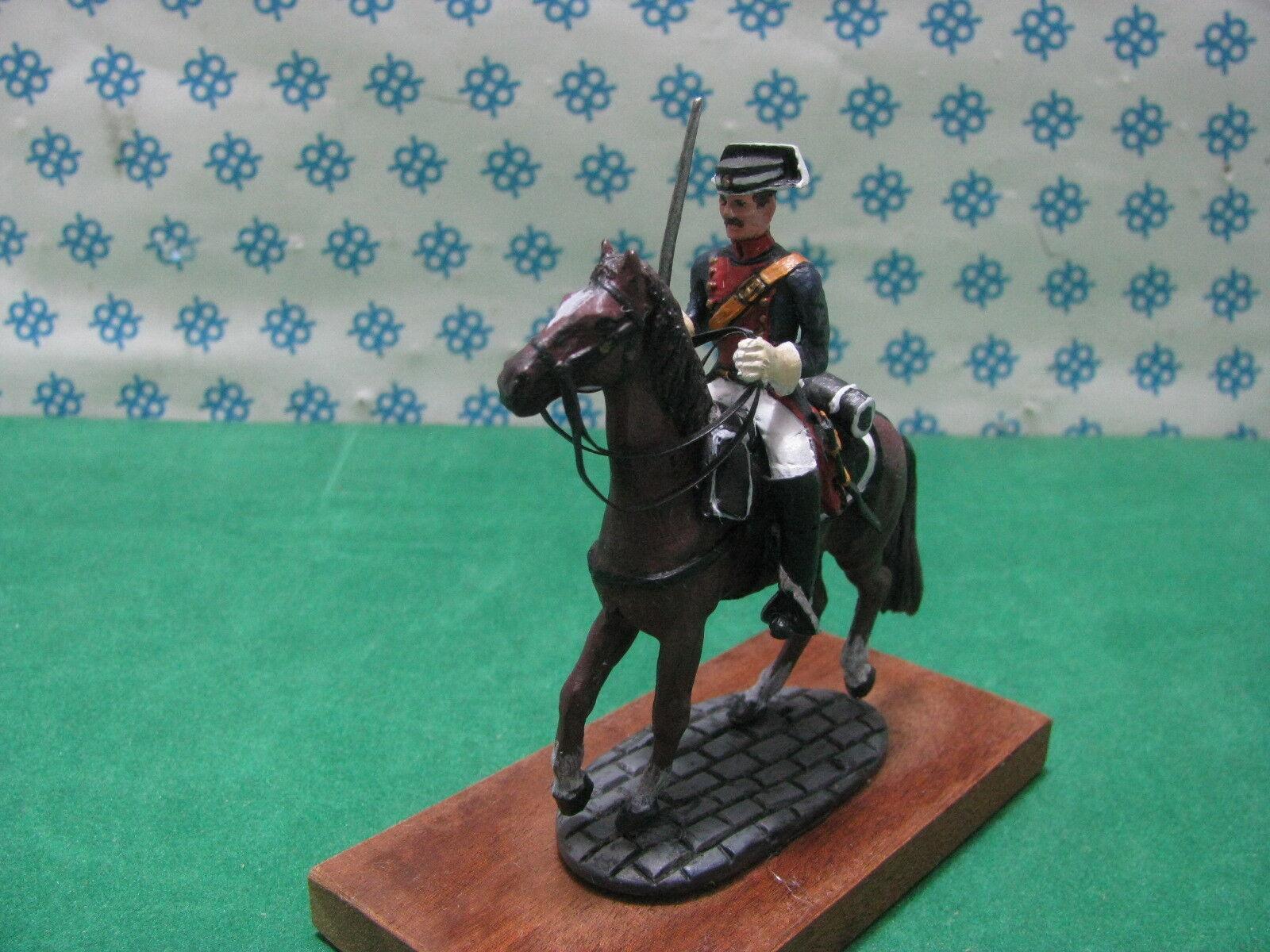 Vintage -  Figura a Cavallo Gendarme Spagnolo - metal toy soldier figure set