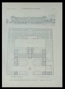 AUXERRE, ECOLE NORMALE D'INSTITUTEURS - 1901 - PLANCHE ARCHITECTURE - RADEL - France - Thme: Architecture Période: XIXme et avant - France
