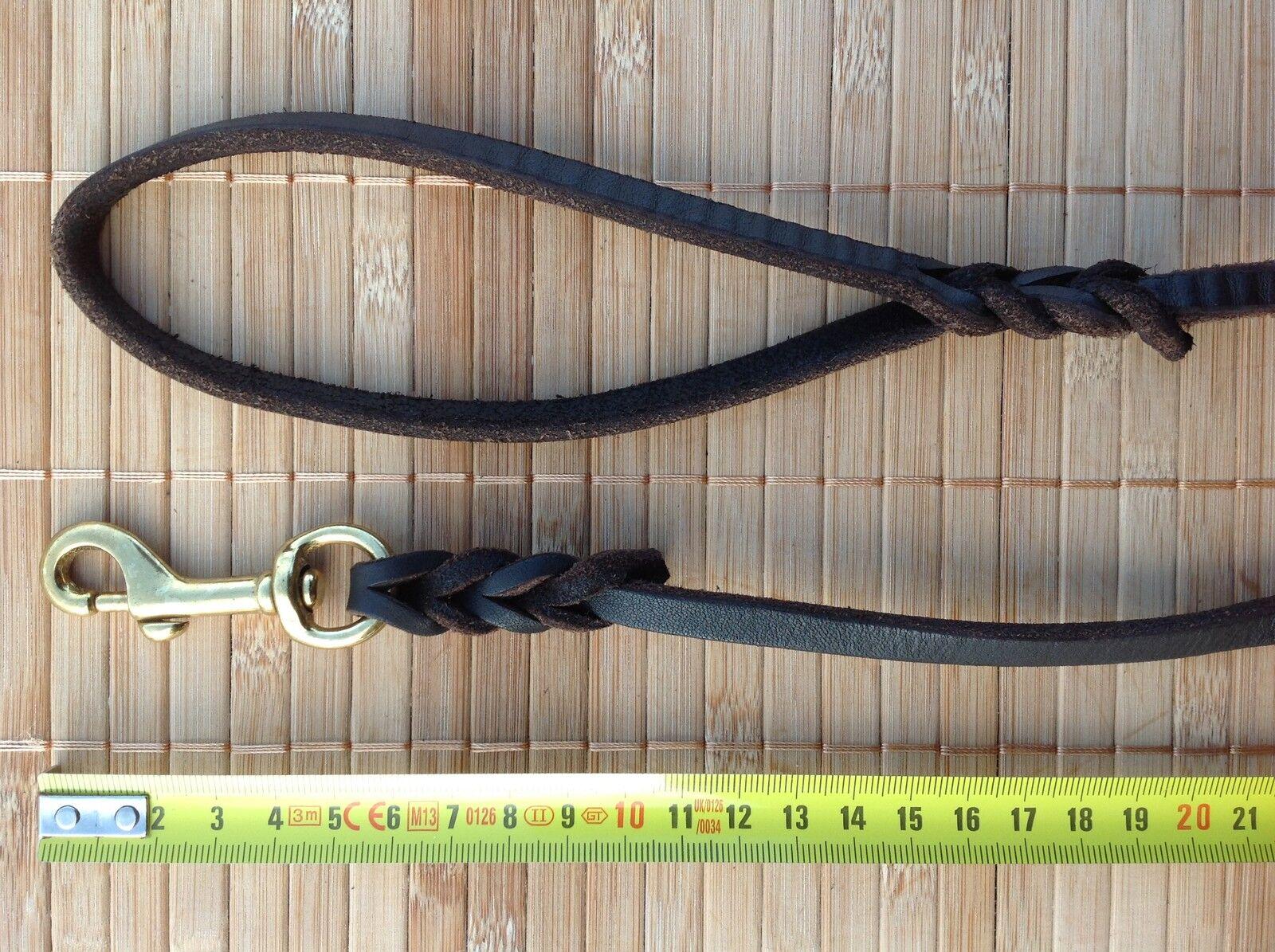 Lederleine 8 mm breite 1,2 bis 3 m länge  Hundeleine Führleine Fettleder  | Trendy