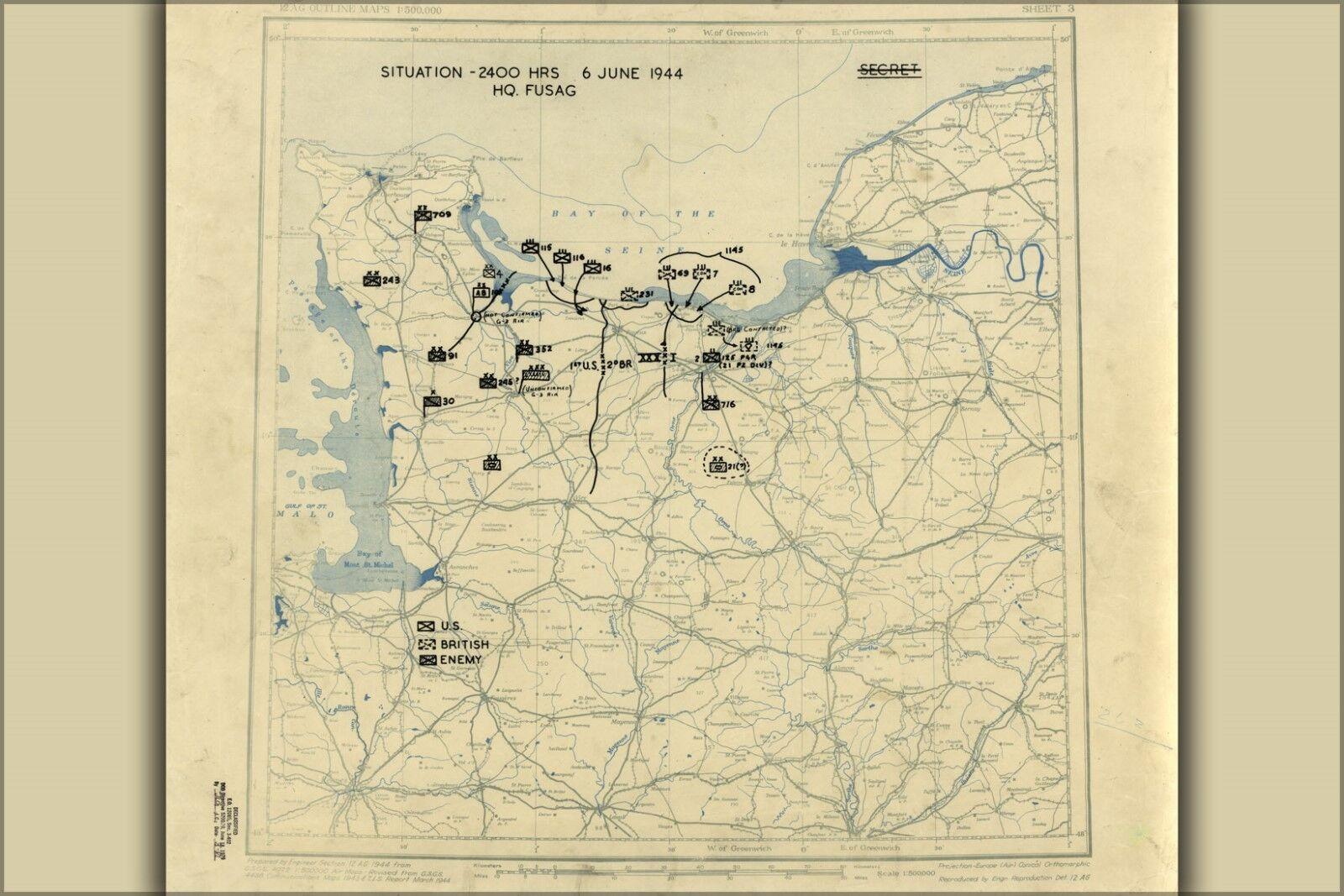 Poster, Molte Misure; Giugno 6, 1944 Battaglia di Normandia