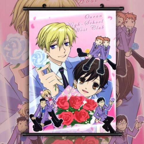 Ouran High School Host Club HD Print Anime  Wall Poster Scroll Room Decor