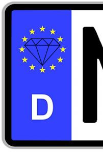 2x DIAMOND Aufkleber Sticker Kennzeichen Simple Nummernschild Tattoo Decal Auto