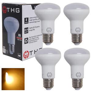 4er-E27-ES-LED-Leuchtmittel-R63-8W-Birne-Reflektor-Gluehbirnen-Lampe-Warmweiss