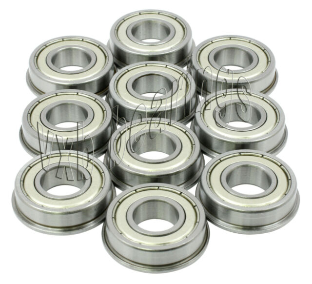 10 Flanged Bearing Lot MF148ZZ 8x14x4 VXB Bearings
