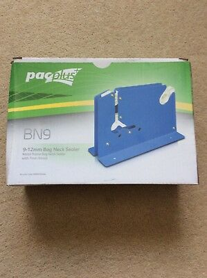 Independent Pacplus Bn9 Metal Frame Bag Neck Sealer 9-12mm New Boxed