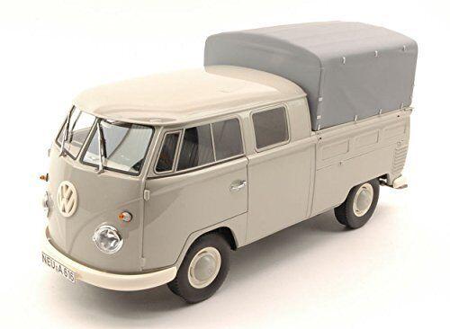 Volkswagen VW T1 Double Cabin Light grigio 1 18 Model PREMIUM CLASSIXXS