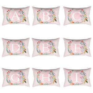 Am-BG-CO-Letter-Floral-Rectangle-Throw-Pillow-Case-Sofa-Cushion-Cover-Home-De