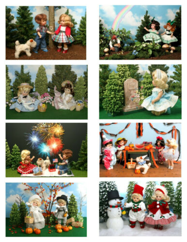 Vintage Ginny Doll /'Holidays/' Greeting Cards 8 cards