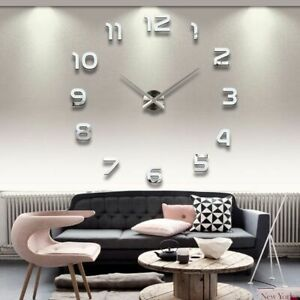 Wall-Clocks-Horloge-3D-DIY-Acrylic-Mirror-Stickers-Home-Decoration-Living-Room
