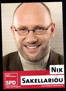 Original, Nicht Zertifiziert Besorgt Nik Sakellariou Autogrammkarte Original Signiert ## 38741