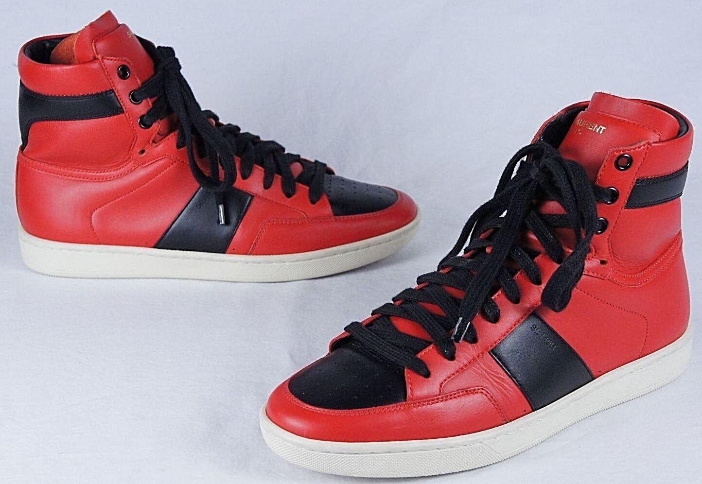 Saint Laurent SL/10H Court Classic Sneakers (Mens 39IT/6US) Jordan banned 1
