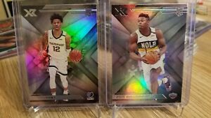 2019-20-Panini-Chronicles-XR-Ja-Morant-amp-Zion-Williamson-RC-Rookie-Lot-of-2