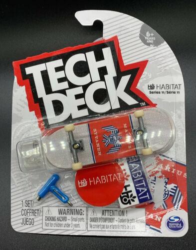 Tech Deck Habitat Skateboards Blanc Marius syvanen RARE série 11 Touche