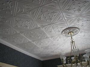 Details About Styrofoam Decorative Ceiling Tile Diy Glue Up On Popcorn 1 Tile 2 7 Sq Ft Rm 2