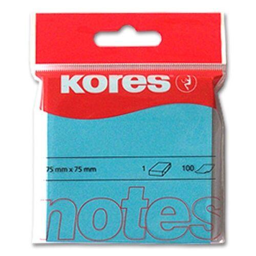 Haftnotizen Kores neonblau 75 x 75 mm 100 Blatt