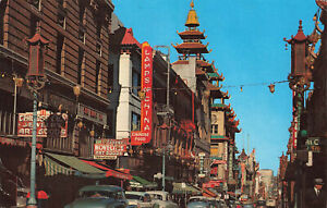 Rare Vintage Scenic Postcard - Grant Avenue Chinatown -San Francisco's US (1967)