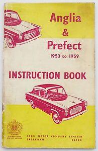 Ford-PREFECTO-amp-Anglia-libro-de-instrucciones-manual-de-1953-a-1959