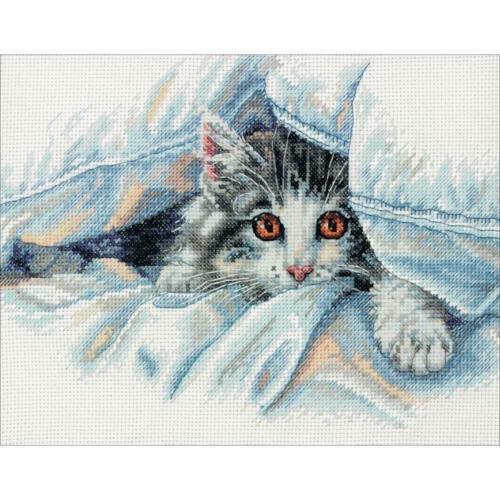 Dimensions Needlecrafts Cat Comfort Counted Cross Stitch Kit