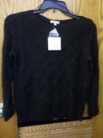 Croft & Barrow - Women - Sweater - Black - Size Medium (ac-17-285x2)