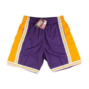 Los Angeles Lakers Mitchell   Ness Purple 1984-85 Swingman Shorts L ... 502f9db79